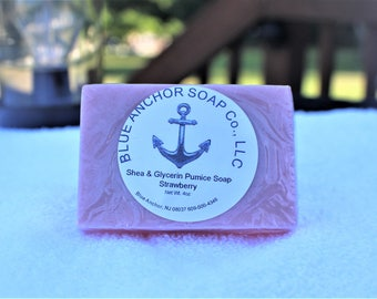 Strawberry  Pumice Soap Bar