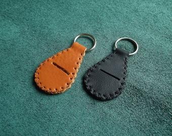Key fob, leather, worn piece caddy