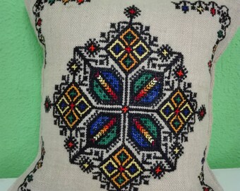 Handmade Embroidered Moroccan Cushion Cover Funda Cojin Marroquí bordado a mano broderie main  artesania boho chic
