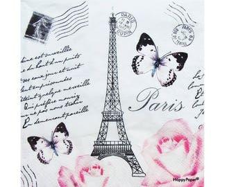 Set of 3 DIV023 Paris, Eiffel Tower paper napkins