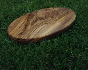 Handmade olive wood oval cutting board cheese board wooden serving board chopping board meat vegetable gift