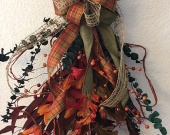 Fall Swag Door Swag Autumn Swag rustic organic swag