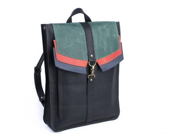 Women leather backpack, City-Style leather bag,Canvas bacpack,Leather rucksak, Laptop backpack, Leather backpack, Womens leather rucksack