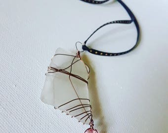 Lumina seaglass necklace