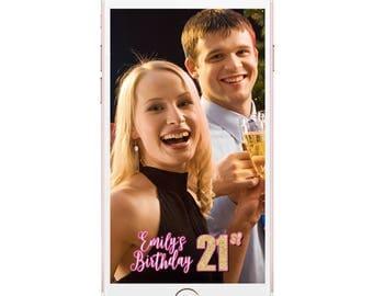 Birthday geofilter, Birthday Snapchat, 21 st birthday filter, 21 st geofilter, Snapchat birthday, Geofilter Birthday, Birthday Party filter