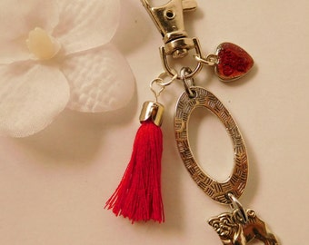 """""""My dog"""" jewelry bag or key ring"""