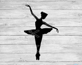 Ballerina SVG PNG DXF Eps Cutting Files - Ballet Svg Cut File - Tiny Dancer Svg - Ballet Decal - Ballet Clipart - Dance Svg - Dance Vector
