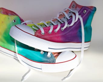 Rainbow Tie Dye Converse