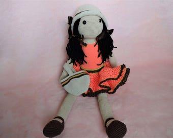 Unique Handmade Crochet Doll for Collectors