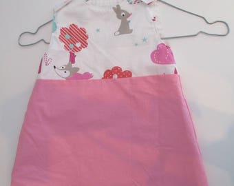 """animaux2"" 12-18 month cotton girl dress"