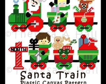 Santa Train Plastic Canvas Patterns