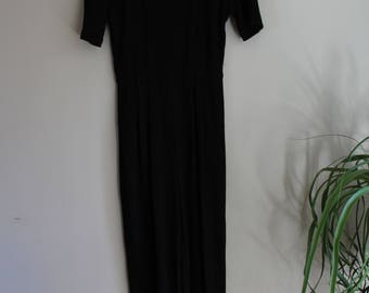 Womens Jumpsuit // Small // Black // Vintage