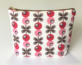 Cosmetic pouch, make up bag, zipper pouch, travel pouch, coin purse, zipper wallet, pencil case, korean, fabric, cotton