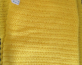Yellow Afghan Blanket