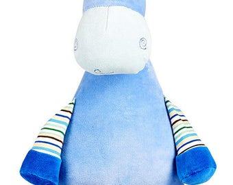 Blue Giraffe plush, personalized