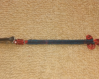 Red & Blue wire wrapped roach clip