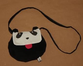 My first girl bag, mini bag in hand - a little panda