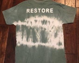 """Street wear: RESTORE"""" hand dyed t-shirt"""