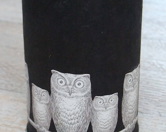 Pencil holder - owls Fornasetti (number 141)