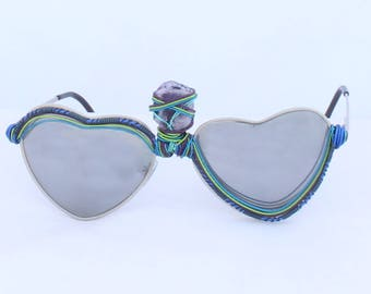 Geode Heart Spectacles | Sunglasses | Wire Wrapping
