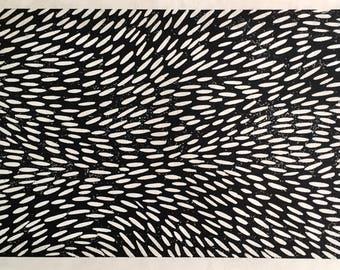 Movement Woodcut Print