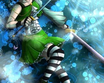 Kesuna as magical girl / poster