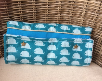 Changing pad Nomad blue with Whale pattern
