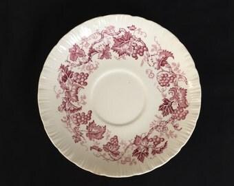 Wedgwood Old Vine Crimson saucer - 8 available