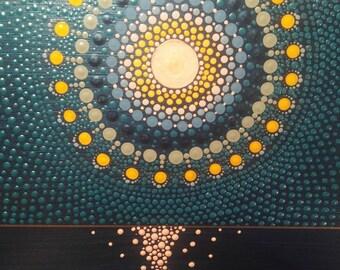 Handmade Dot Art - Sunset