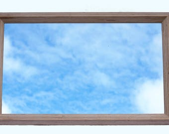 Large birch plywood mirror