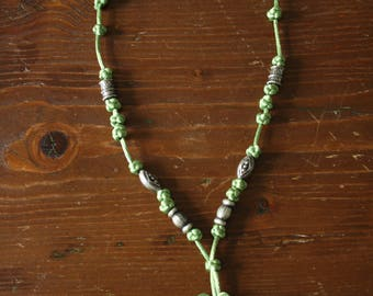 Chinese knots and silver necklace
