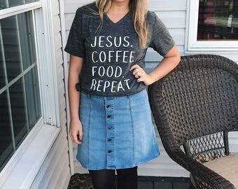 GRAPHIC TEES FOR Women, coffee shirt, friend gift, christmas gift, Jesus shirt, shirt, coffee tee, mom gift, ladies tshirt, coffee tshirt