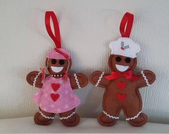 Chef and Wife Gingerbread Couple