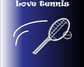 Tennis Logo Design svg - design - Tennis logo, Tennis love instant download svg,  4x4 inches