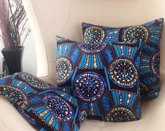 African *ankara* print cushion