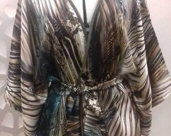 Kimono 100% silk printed size 36 to 40