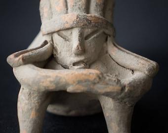 Proto-Chupicuaro Sitting Jar Figurine, Reproduction