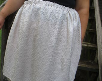 Rosy Cream Gathered Skirt with Tulle Underlayer