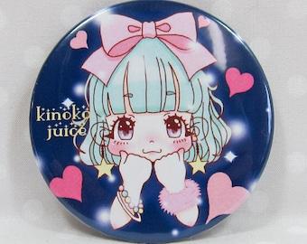"""Can Badge [Kyururun Kiki, and badge """"when Orientals! I'm Kiki"""" KINKOJUICE"""
