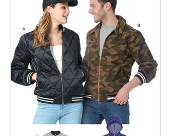 Unisex jacket sewing pattern McCall M7637's