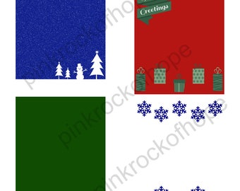Holiday Themed Backgrounds - digital download- 8.5 x 11 inches