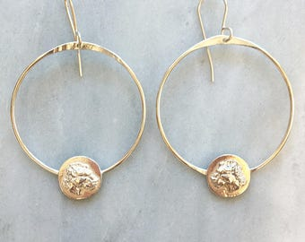Lioness Hoop Earrings