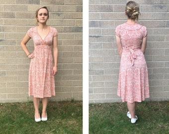 Vintage Twenty One Peach Cotton Dress