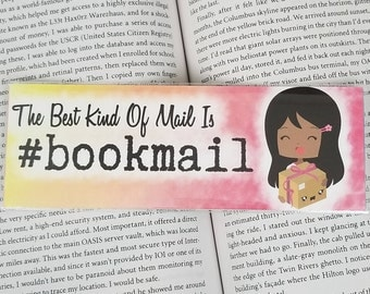 Bookmail - Bookish Bookmark - Multiple Hair Colors Available
