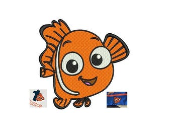 Nemo Embroidery Design 3,4,5 inch size instant download finding Nemo embroidery
