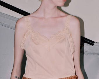 1980s Lace Trim Night Top
