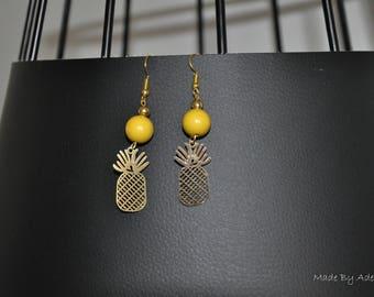 Pineapple & yellow earrings