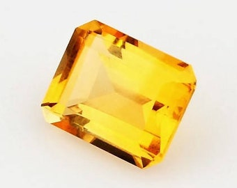 Emerald Cut Citrine Loose Gemstone 2.11 Carats