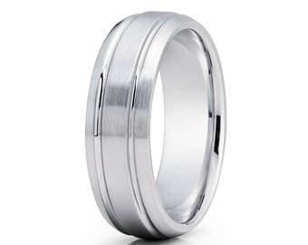 Gold Wedding Band 14k White Gold Wedding Ring Anniversary Ring Doe Gold Wedding Band Engagement Ring Men & Women Gold Ring