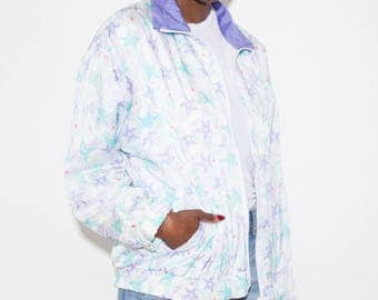 Vaporwave Clothing, Vaporwave Aesthetic, Vaporwave, Starfish, Seapunk, Pastel, Aesthetic Clothing, 90s Windbreaker, Vintage Windbreaker